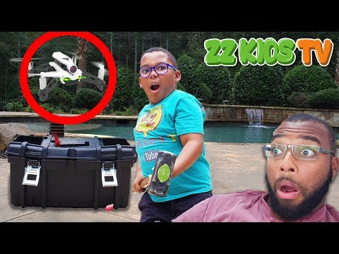 WHAT'S INSIDE THE DRONE MASTER SECRET BOX! Caught on Camera VLOGSKIT