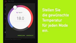 "dS Smart Home-App: Tutorial ""Temperatur einstellen"" (Android)"