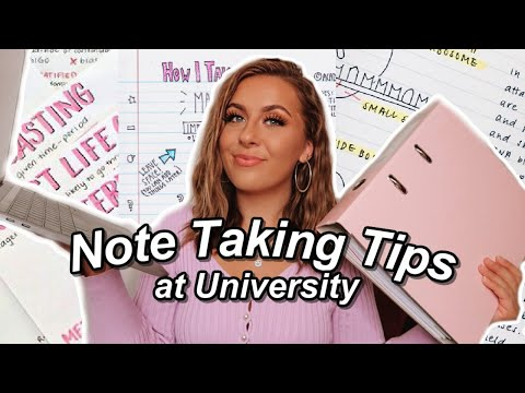 How To Take First Class Lecture Notes | University Note Taking Tips 2020 🎓