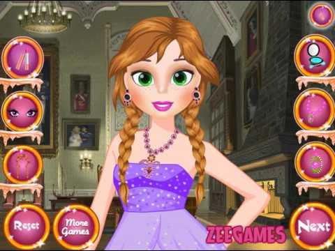 Мультик игра Холодное сердце: Анна макияж и одевалка (Princess Anna Makeup and Dressup)