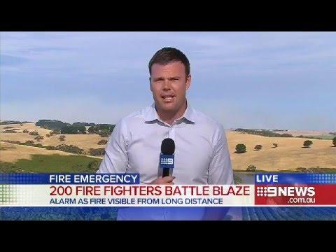 Mosquito Hill Bushfire | 9 News Adelaide