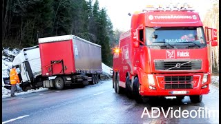 Volvo FH16 Heavy Recovery Truck vs Iveco Semitrailer -  Sweden 4K