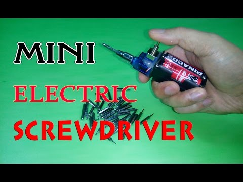 DIY - How To Make Mini Electric Screwdriver V2 - Simple