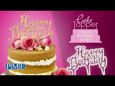 PME Happy Birthday Cake Topper Cutter