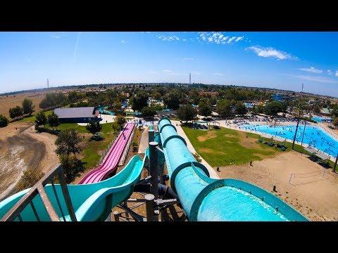 Thrills Of Fiji Teal Right Slide - Island Water Park - Fresno, CA