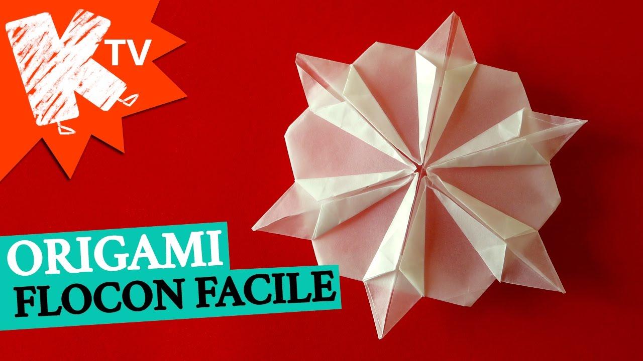 Flocon Origami Facile Déco Noël La Télé Des Kids