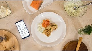 Масленица: рецепт картофельных блинов с красной рыбой и сырным кремом