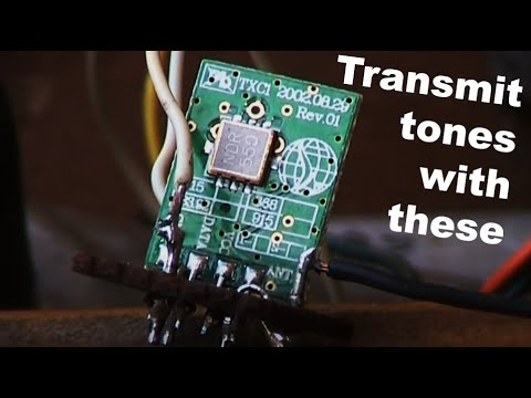 Experiments With Low Power UHF Data Transmitter Modules: Part 1