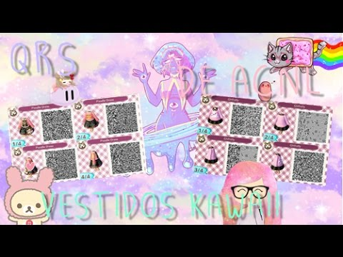 Qrs Codes Animal Crossing New Leaf Vestidos Kawaii Youtube