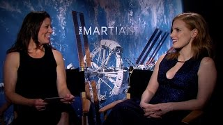 The Martian | Astronaut Tracy Caldwell Dyson Interviews Jessica Chastain [HD] | 20th Century FOX
