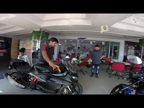 Taking delivery of TVS Apache RR 310