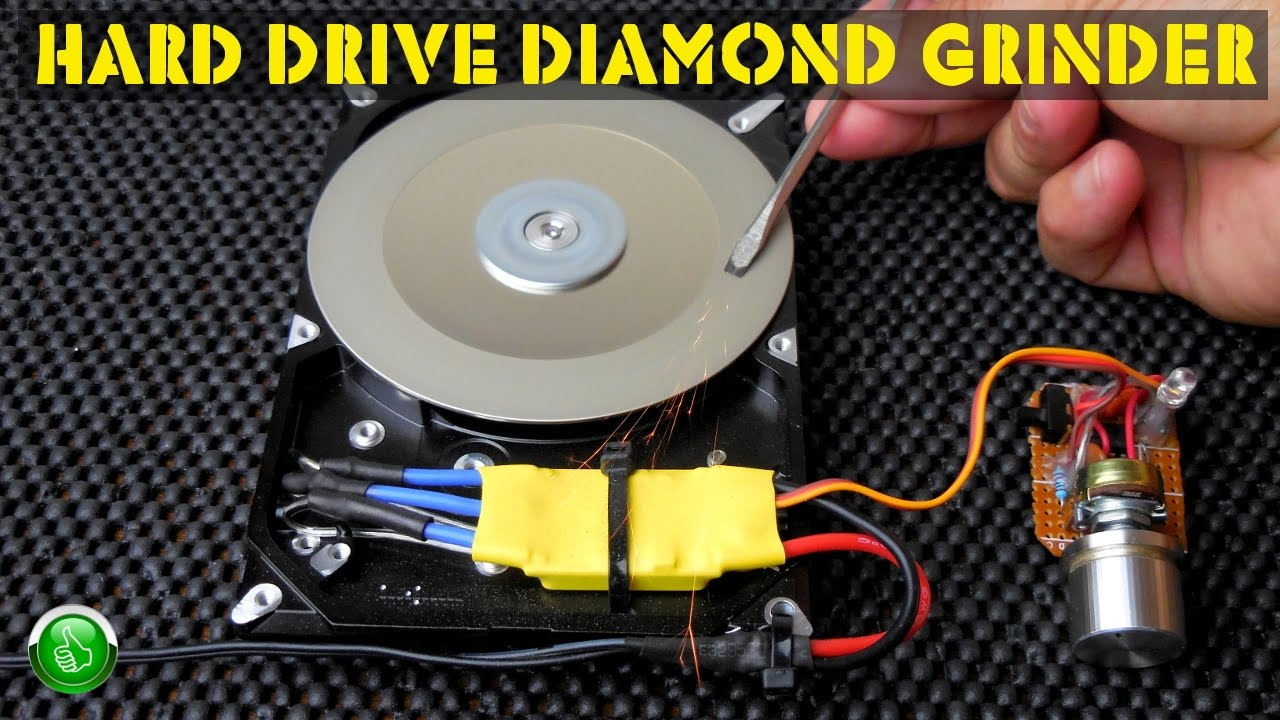 Computer HARD DRIVE (HDD) Variable Speed Diamond Grinder ! on