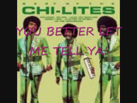 The Chi-Lites- A Lonely Man