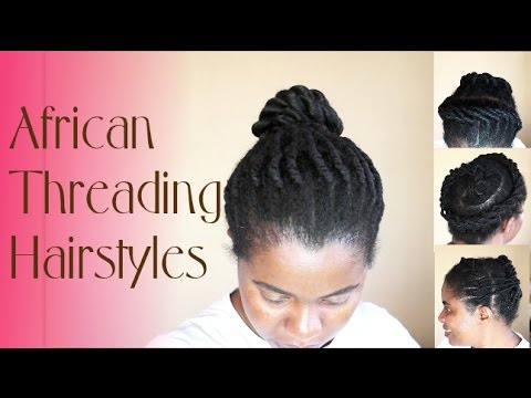 African Threading Hairstyles   Natural Sisters - YouTube