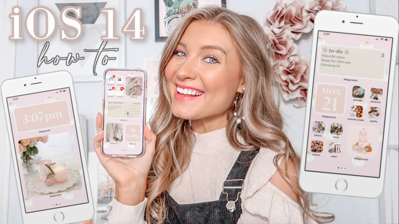 iOS 14 Customization & Organization | Fall Inspired, How To, Tips & Tricks | + Apple Giveaway