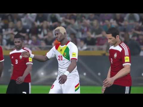 PS4 PES 2017 Gameplay Libya vs Guinea HD
