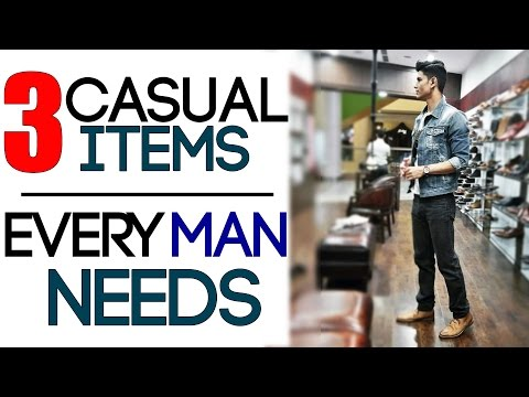 3 CASUAL Men's Style ITEMS EVERY MAN NEEDS | Casul Outfits for Men | Mayank Bhattacharya