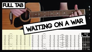 Waiting On A War (Foo Fighters) - Cover/ TAB & Complete Play-Through - Guitar Lesson/ Tutorial