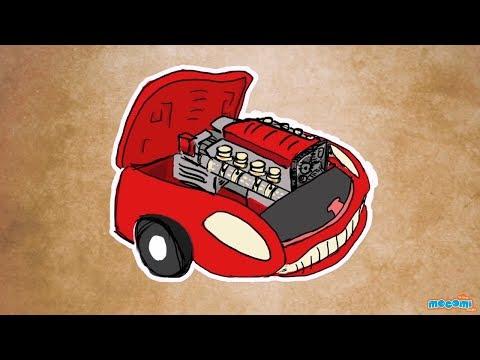 how does a car engine work mocomi kids youtube. Black Bedroom Furniture Sets. Home Design Ideas
