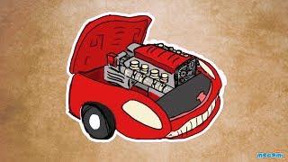 Araba Motoru nasıl Çalışır? Çocuklar | Eğitim Videoları için Mocomi bilim