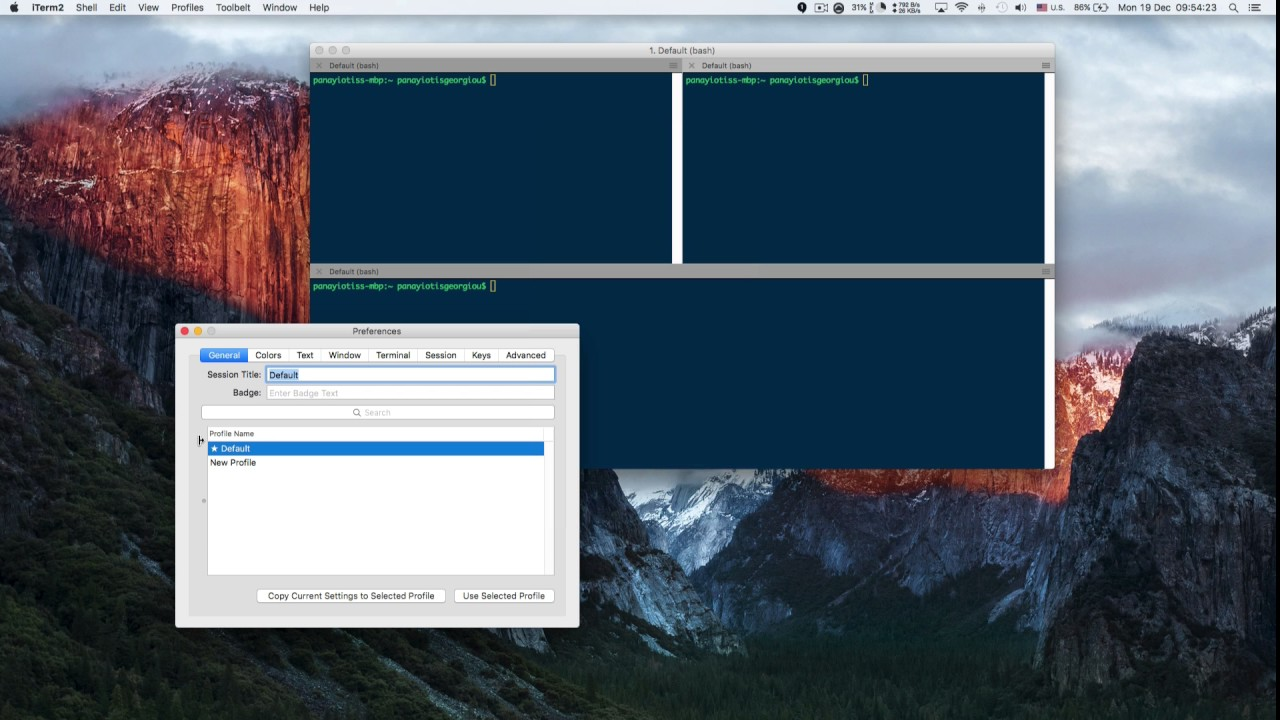 How to Create Custom iTerm2 Window Arrangements