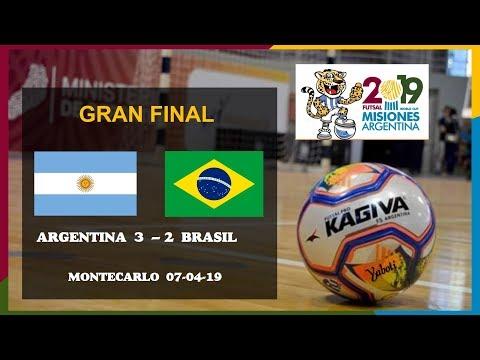 CAMPEÓN Argentina 3 - 2 Brasil. Gran Final AMF Mundial Futsal 2019 / Futsal World Cup.