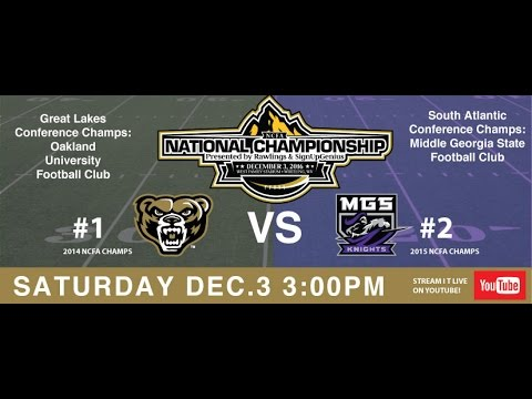 2016 NCFA National Championship College Football game