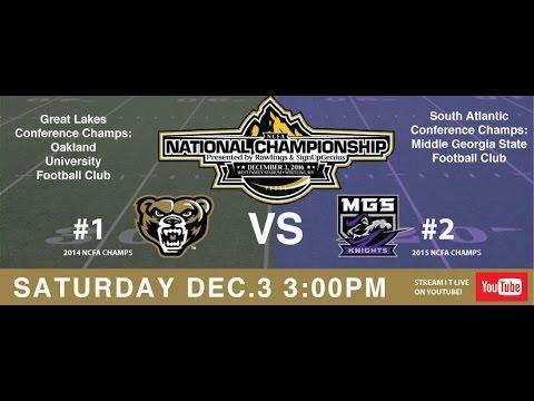 2016 NCFA National Championship College Football game