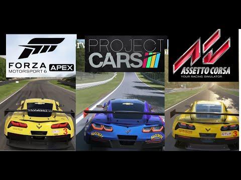 Forza Motorsport 6 Apex vs Project Cars vs Assetto Corsa | Graphics & Cars BIGGEST Comparison
