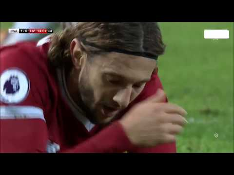 Roberto Firmino's unbelievable miss against Swansea - Swansea vs Liverpool (1-0)