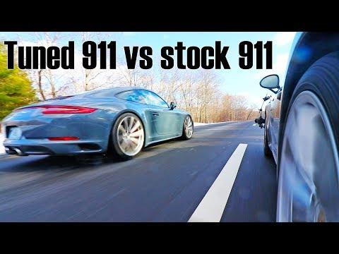 Tuned Porsche 911 991.2 Carrera 4S vs Stock Carrera 4S