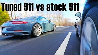 Tuned Porsche 911 991.2 Carrera 4S vs Stock Carrera 4S