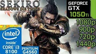 Sekiro: Shadows Die Twice - GTX 1050 ti - 1080p - 900p - 720p - 1440p - Benchmark PC - i3 8100 G4560