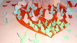 3D Валентинка для Мамы  Простая идея  3D Valentines day card for Mom  Simple idea