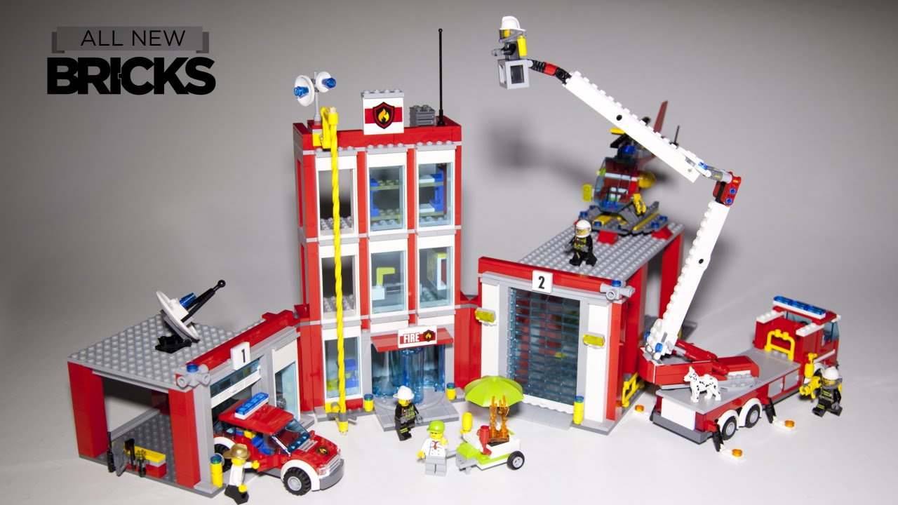 Lego City 60110 Fire Station Speed Build Youtube