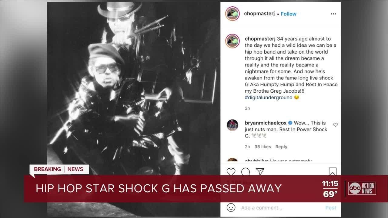 DIGITAL UNDERGROUND'S SHOCK G DEAD AT 57