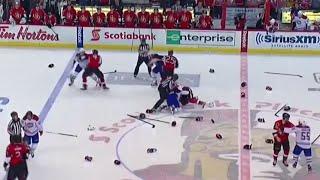 NHL Opening Faceoff Line Brawls