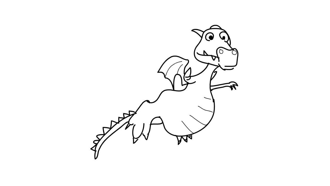how to draw a cute dragon youtube