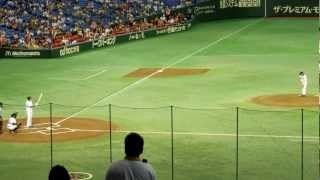 試合前に行われた「Going! Sports&News」の企画で行われた亀梨和也さん...