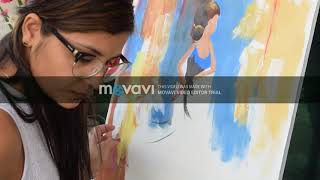 How to make dancing girl painting
