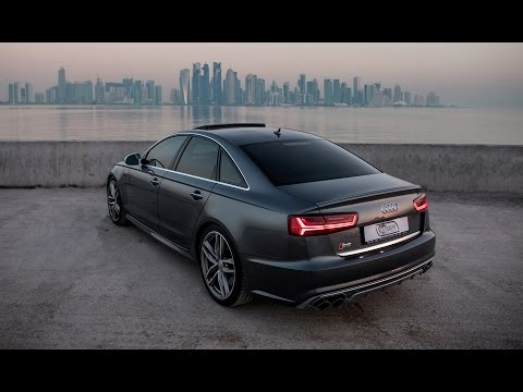 2017 Audi S6 (450hp,V8TT) in Daytona gray pearl effect rocking the exclusive Doha