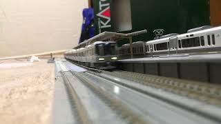 鉄道模型 nゲージ 223系新快速通過