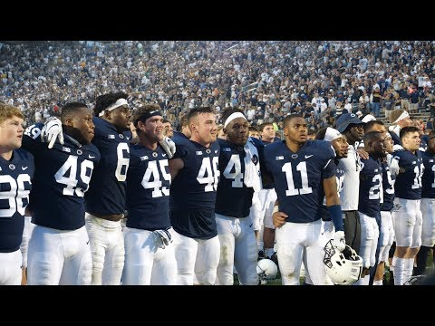 Penn State football sings alma mater after narrowly escaping upset