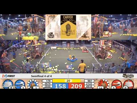 Intense FIRST Championship Houston Carver Semifinal Match (w/ team 987,2122,4910)