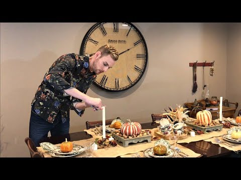 Fall Decorating - Part 1 - Autumn / Thanksgiving Table Setting - How To Set A Table