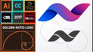 How to create Golden Ratio Logo Design in Adobe Illustrator CC | HD | N