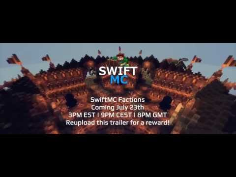 SwiftMC 2.0 - Factions Server - Join Now! (2 FREE RANK GIVEAWAYS!)