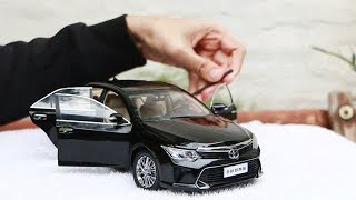Unboxing Toyota Camry 1:18 Paudi Miniature Model Black Diecast
