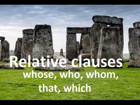 Relative clauses - who, whom, whose, which, that - jak stosować, najważniejsze zasady, przydawkowe