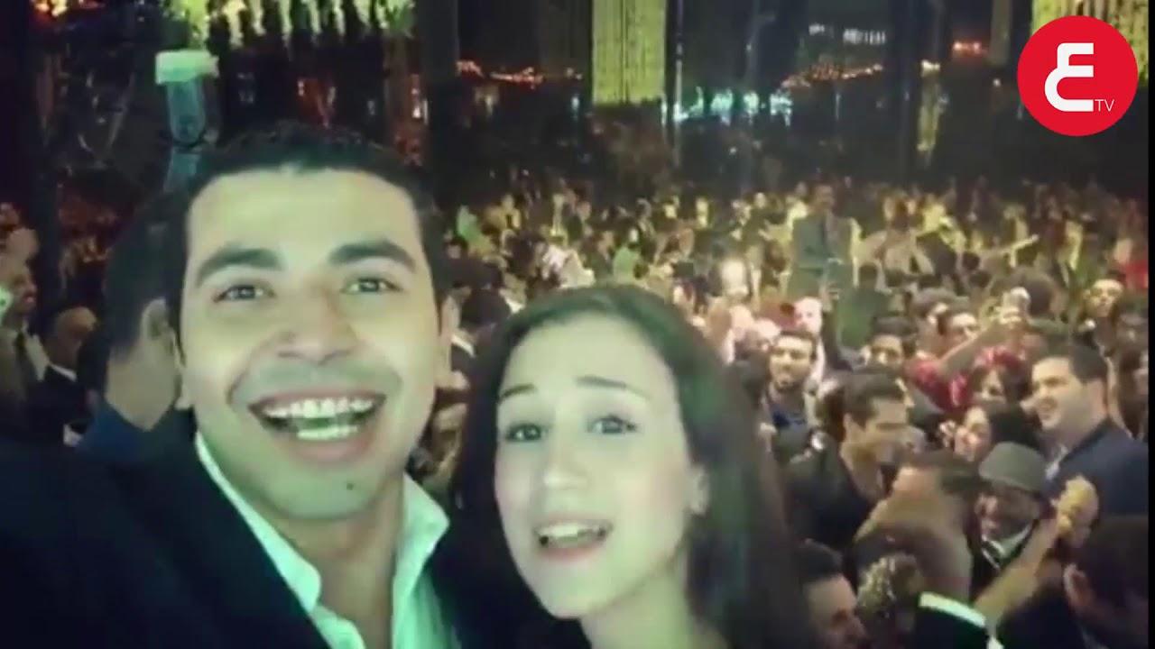 حصرياً نجم مسرح مصر محمد انور وزوجته في فرح مصطفي خاطر